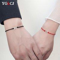 2 teile / set zusammen für immer Liebe Infinity Armband für Liebhaber Rote String Paar Armbänder Frauen Wunsch Schmuck Geschenk