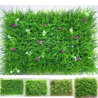 Decorative Flowers & Wreaths 40cmx60cm Artificial Grass Plant Lawn Panels Wall Encrypted Home Garden Simulation Greenery Decoration