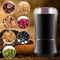 주방 전기 커피 그라인더 400w 미니 소금 고추 그라인더 강력한 향신료 견과류 커피 콩 갈기 기계 전자