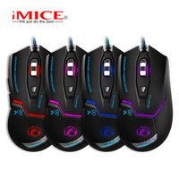 mices 마우스 Imice x8 케이블 라이트 방출 전자 게임 제다이 생존 닭 무게 4 색 제어 가능