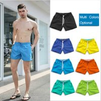 Hommes Mode Shorts Summer Beach Couleur Solide Pantalon Cropped Pantalon Actif Coureur Coureur Multicolors Pantalon de serrage respirant en option