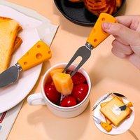 Cheese fromage fromage fourchette cuillère créative mignon de couverture de couverture de nourriture de nourriture pour enfants grillé à la sauce pain tang T500803
