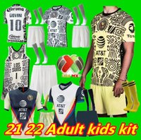 Adulto Crianças 21 22 Club América Futebol Jerseys 2021 2022 Home Away Terceiro Treinamento Tigres Chivas de Guadalajara Kit Camisas de Futebol Foo