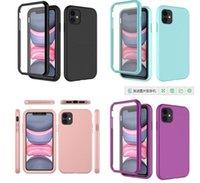 2 en 1 Estuches para teléfono a prueba de golpes para iPhone 12 Mini Pro Max 11 6 7 8 5 Plus XR XS TPU + Funda de PC