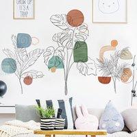 ملصقات الغذاء الطازجة لون مائي كتلة اللون خلفية ورق الحائط اللوحة أريكة نوم الديكور زخرفة القابلة للإزالة ملصقات الحائط