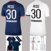 21 22 Home Jersey Jersey Mbappe Verratti Kids Kids Kit and Socks Child 2021 2022 Neymar Herói Futuro Di Maria Kean Futebol Camisas