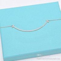 diseñador mujer hombre sonrisa colgante colgantes collar collar de diamante collares de moda joyería clavícula cadena fresco simple personalizado regalo de boda con caja
