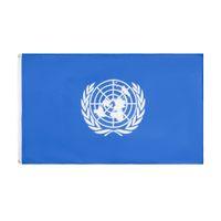 Prezzo di fabbrica all'ingrosso 100% poliestere 90x150cm 3x5 fts The United Nations flag Organizzazione internazionale Bandiera decorazione GWB6009