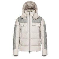 Winter-Daunenjacke Männer Mischfarbe Reißverschlüsse Jacken Männer Warme Oberbekleidung Mode Design Outdoor Hochwertige Mäntel Größe XXXXL Schwarz