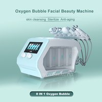 8 IN 1 Hydrafacial Microdermabrasion Machine Radio Frequency Skin Tightening Hydra Dermabrasion Oxygen Therapy Iontophoresis Face Mask Device For Spa