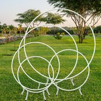 Party Decoration Round Wedding Props Birthday Wrought Iron Arch Background Lawn Artificial Flower Frame
