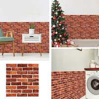 DIY Brick Stone Self Adhesive Waterproof Wall Paper 30*30cm 3D Wallpaper Stickers Home Decor Kitchen Bathroom Living Room Sticker BH4768 TQQ