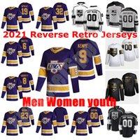 Los Angeles Kings 2021 Обратная ретро хоккейные трикотажные изделия 56 Куртис Макдермид Мэтт Рой Джоаким Райан Шон Уокер 36 Джек Кэмпбелл изготовленный на заказ