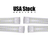 25 / Paket Soğutucu Kapı Entegre 8 FT LED Işık T8 Tüpler V Şekli Soğutucular Kapılar ABD Amerika LED'leri Ampuller 4ft 5ft 6ft Floresan Işıklar AC85-265V ABD stoğu USALIGHT