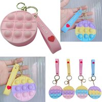 Popsit Fidget Toys Popit Decompression Zero Wallet Key Chain Fidget Toys Kawaii Decompression Zero Wallet Key Chain Fidgety Toys