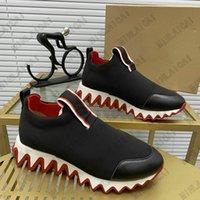 Tiketa Run Düz Perçin Tasarımcı Ayakkabı Düşük Kesim Dipleri Süet Erkek Sneakers Tasarımcılar Koşucu Eğitmenler Ayakkabı Deri Dantel-up Kauçuk Kırmızı Sole Bayan Lüks Rahat Sneaker
