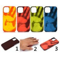 Creative temperature change heat induction phone cases for iphone13 pro max 12 min 11 X XR XS 7 8 plus SE case cover