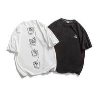 t xinchen 2021 verão manga curta t-shirt solta meninos 'roupas casuais camisa de fundo casual