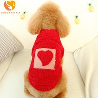 Dog Apparel Winter Sweater Sweet Warm Red Heart Pattern Clothes For Small Dogs Pet Clothing Coat Knitting Cloth Puppy Jersey Perro