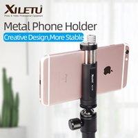 Xiletu XJ-10 56mm ~ 95 mm 범용 알루미늄 알루미늄 합금 금속 전화 홀더 클립 마운트 스마트 폰용 1/4 나사 구멍 버블 레벨 210317