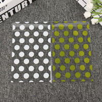 100pcs Gold White Dots Candy Bag Packaging Plastic Sweets Bags Transparent Cookie Bag Birthday Wedding Party Gift Wrap GGE2206
