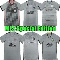 Tailândia 2021 MLS Edição Especial Jerseys de Futebol 2022 Los Angeles Loggers Atlanta York City Toronto 21 22 Camisa de Futebol Clássico Cinza 7 Equipes Homens Sportswear Top