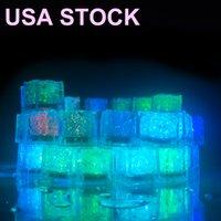 다른 무대 조명 참신 빛 RGB LED 깜박임 아이스 큐브 조명 물 잠수정 액체 센서 클럽 웨딩 파티 샴페인 타워 미국 Lighty