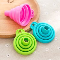 Strainers Portable Silicone Folding Funnels Mini Oil Dispensing Hopper Multifunctional food funnel Kitchen Cooking Tools Supplies YHM685-ZWL