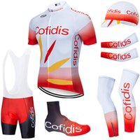 6PCS Full Set TEAM 2020 COFIDIS cycling jersey 20D bike shorts Ropa Ciclismo summer quick dry pro BICYCLING Maillot bottom wear