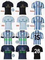 20 21 Racing Club Asociación الجودة المدنية الرئيسية بعيدا الكبار لكرة القدم الفانيلة # 7 سماعات كرة القدم قميص