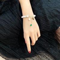 Japanese&Korea Fashion Brand Jewelry Crystal Square Charm Bracelets Bangles Freshwater Pearl Bracelets for Women Gift