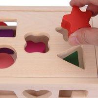 13 Çok Fonksiyonlu Çekme Delik Zeka Kutusu 15 Şekil Eşleştirme Römork Çocuk Bulmaca Ahşap Oyuncaklar Yapı Taşları