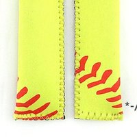 Popsicle Holder Neoprene Sport Pop Bag Rectangle Popsicle Mould Sleeves Holder Lily Baseball Rugby Ice Cream Cover HHD11101
