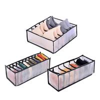 Caixa de armazenamento da gaveta BRA Closet Organizador Underpants Caixa de acabamento Meias Dobrável 24 grade Divisor Bras Sock Suprimentos ZWL462