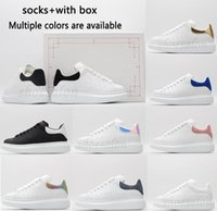 Kutu ile En Kaliteli Ayakkabı Tasarımcısı Erkek Kadın Bayan Deri Lace Up Beyaz Erkek Espadrilles Boy Daireler Platformu Rahat Espadrille Düz Sneakers