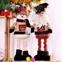 زينة عيد الميلاد مرح الحلي سانتا كلوز ثلج القماش اللعب دمية شجرة عيد الميلاد توبر الأطفال أطفال السنة هدايا عيد