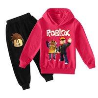 Bambini Tracksuits Tiktok Due pezzi Set Boys Girls Fashion Tiktok Felpe Felpe con cappuccio + Pantaloni Abiti Big Bambino Unisex Abbigliamento Dimensioni 100-170