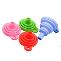 Speisewerkzeuge Faltbarer Trichter Mini Silikon zusammenklappbar Stil Falten Tragbare Trichter Hung Küchenwerkzeug FWE5378