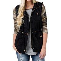 Womens Winter Zipper Sleeveless Waistcoat Vest Lady Fashion Quilted Gilet Coat Jacket Tops