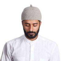 Gorro Beanie Turkse Moslim Islamitische Kufi Taqiya Takke Peci Skull Cap Prayer Hat met effen kleuren Bobble rekbaar