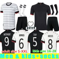 2021 2022 Alemania Fútbol Jersey Fans Men Hummels Kroos Gnabry Werner Draxler Reus Muller Gotze Copa Europea Fútbol Kit Kit Tamaño S-XXL