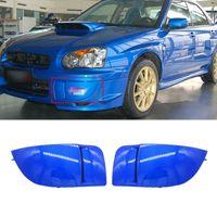 ペアニュー1カーフロントバンパーフォグライトランプカバーマスクバンパーカバーキャップキャップキャップトリム保護Subaru Imperza STI WRX 2004-2005