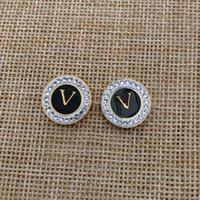 최고 품질 스테인레스 스틸 귀 스 터 드 여성 디자이너 귀걸이 드롭 블랙 오일 반지 디자인 진흙 드릴 골드 컬러 귀걸이 레이디 선물 도매