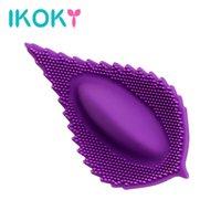 Ikoky Licking oral invisible bragas vibrantes clítoris estimulador hembra masturbación hoja vibrador adulto juguetes sexuales para mujer y18100703
