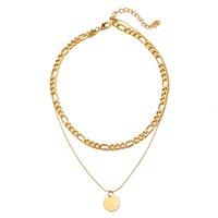 Colar do vintage no pescoço Corrente de ouro mulheres de jóias camadas acessórios para meninas roupas estéticas presentes de moda pingente 52550