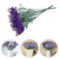 Dekoratif Çiçekler Çelenkler 1 adet Simülasyon Provence Lavanta Plastik Sahte Demet Düğün Seti Dekorasyon Ipek Çiçek J8A6352