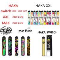 Authentic VS Switch 2in1 XXL MAX Dispositivo Haka monouso 2800 POD E-sigarette E-sigarette GST Pen 2500 Sfuffs 2200 VAPE KIT IGETDISPOSIBILE HVHKX