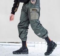 AEFRIC EDEN PACKWORK HAREM Joggers Скейтборд Грузовые брюки Мужская мода Streetwear Хип-хоп Случайный мужской Гарем Брюки DFF1584