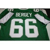 Özel Bay Gençlik Kadınlar Vintage Bill Bergey # 66 Dikişli Retro Futbol Forması Boyut S-5XL veya Özel Herhangi bir Ad veya Numarası Forması
