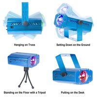 RGB LED Su Okyanusu Dalgalanma Etkisi Sahne Işıkları Meteor Lazer Projektör Aydınlatma Noel Disko Barlar DJ 7-Renk Dinamik Lambalar Açık Dekor